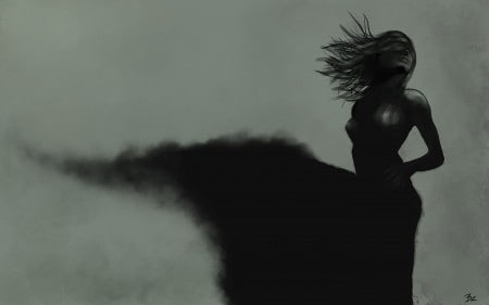 woman black shadow