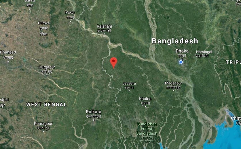 Chuadanga google maps mark